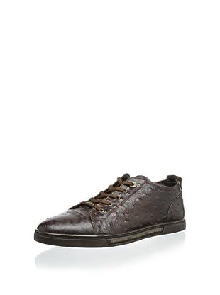Dino Bigioni Men's Ostrich Sneaker (Tan)