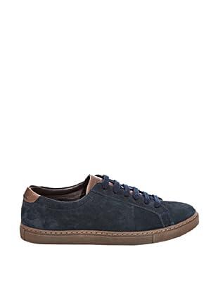Cortefiel Zapatillas Ante (Azul Marino)