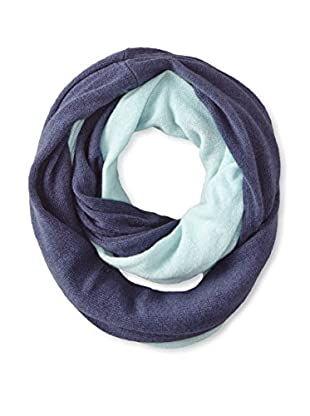 Cullen Women's Colorblock Cashmere Infinity Scarf, Ink/Ice