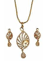 Gold plated Pendant set for women n Female-JB9178