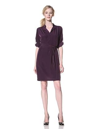 Chetta B Women's Belted Shirt Dress (Purple)
