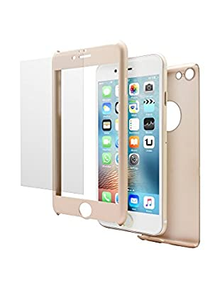 Unotec Schutz-Set iPhone 6/6S goldfarben