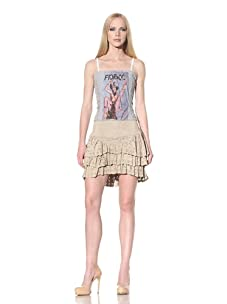 D&G by Dolce & Gabbana Women's Ruched Jersey Tube Top (Grey)