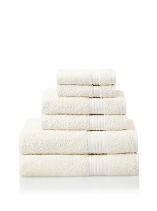 Savannah by Chortex 6-Piece Bath Towel Set, Cream