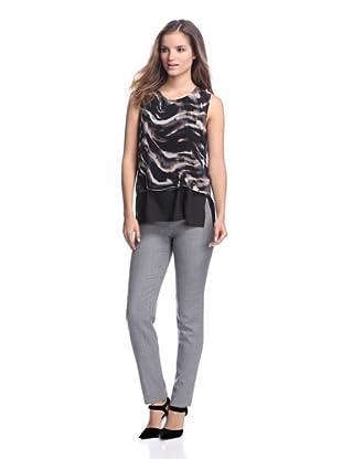 Calvin Klein Women's Sleeveless Combo Top (Camel Combo)
