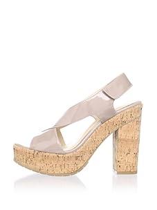Calvin Klein Women's Tamra Patent Sandal (Taupe)