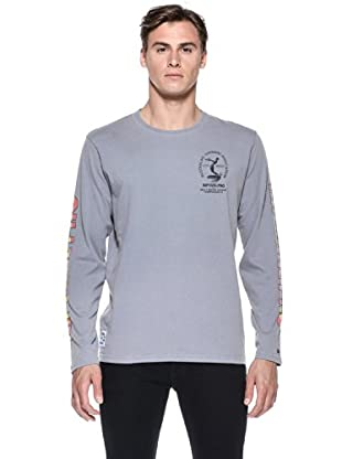 Rip Curl T-Shirt Heritage Comp L/S Tee (Grigio)