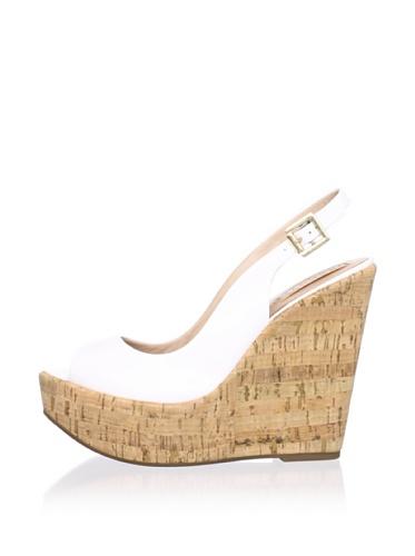 Schutz Women's Cork Wedge Slingback (Branco)