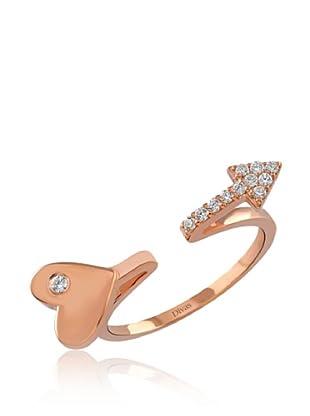 Divas Diamond Anillo Gemstone Heart Arrow (Oro)