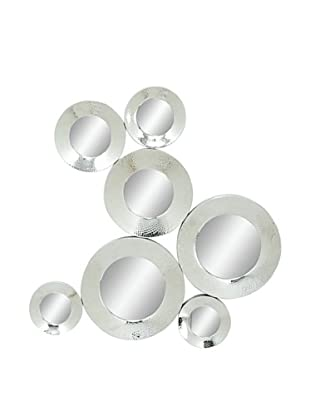 Mirrored Abstract Circle Wall Décor