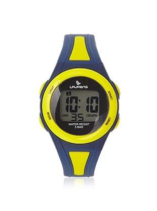 Laurens L119J900Y Blue/Yellow Rubber Digital Multifunction Watch