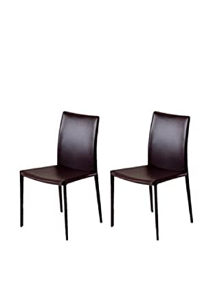 Onyx Set of 2 Lima Chairs, Brown