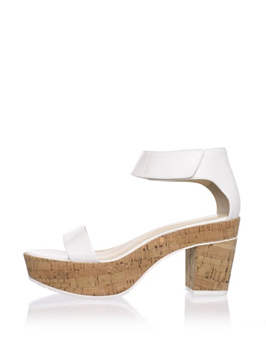 Calvin Klein Women's Odina Ankle-Strap Sandal (Antique White)