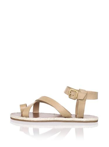 Madison Harding Women's Judd Flat Sandal (Tan)