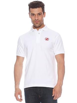 Polo Club Polo manga corta Custom Logo Small (Blanco / Rojo)