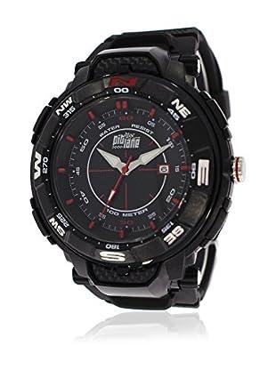 Pit Lane Uhr mit Miyota Uhrwerk Pl-2004-1 schwarz 50 mm