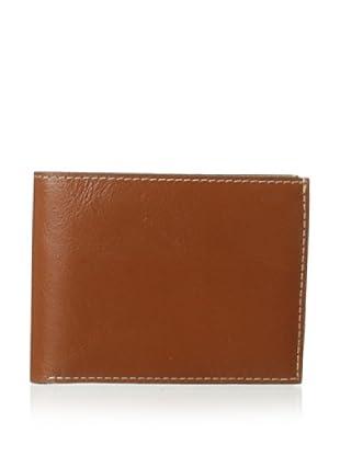 Trafalgar Men's Milled Leather Slimfold Wallet (Tan)