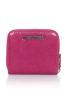JIL SANDER Women's Small Zip Wallet (Fuchsia)