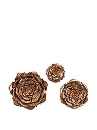 Set of 3 Blayney Metal Wall Flowers