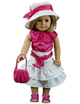 Queen's Treasures Pretty in Pink American Girl Doll Clothes and Accessories
