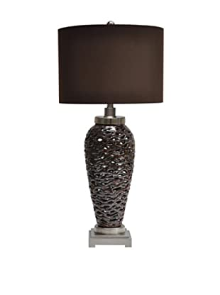 Greenwich Lighting Pen Brook Table Lamp, Chocolate/Nickel