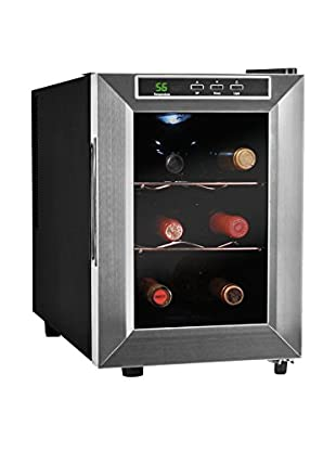 Vinotemp 6-Bottle Thermoelectric Wine Cooler, Stainless Steel/Chrome