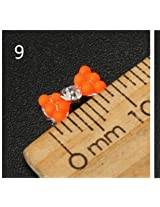 10pcs Metal Rhinestones Crystal 3D DIY Nail Art Tip Decoration (Color:#9)