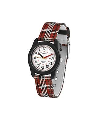 CASIO 19509 MTR-13B-1B - Reloj Infantil Unisex correa textil dial blanco