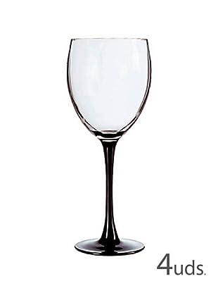 Luminarc Estuche 4 Copas Vino 24,5 Cl Modelo Domino Noir