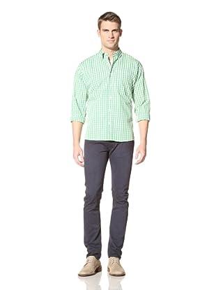 green shirt with khaki pants - Pi Pants