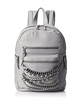 ASH Women's Domino Chain Backpack, Stone Grey/Tarnish Silver