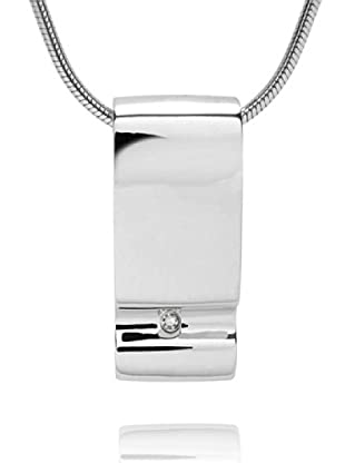 Secret Diamonds 60250131 - Collar de mujer de plata de ley con 2 diamantes