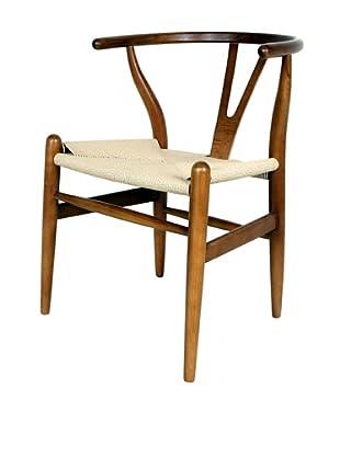 Control Brand Wishbone Chair, Brown/Yellow