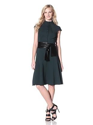 Byron Lars Women's Snap-Front Ponte Dress (Pine)