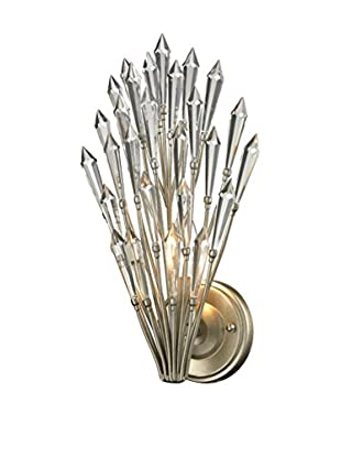 Artistic Lighting Viva Collection 1-Light Sconce, Aged Silver