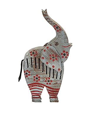 Distressed Wood Painted Elephant