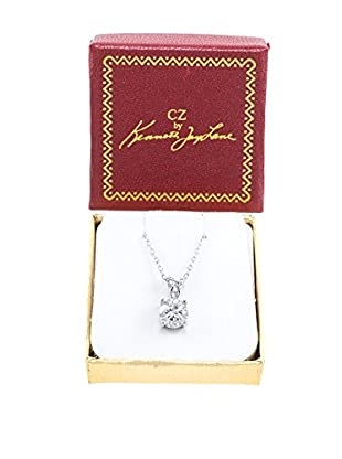 CZ by Kenneth Jay Lane Round Clear CZ Classic Pendant Necklace