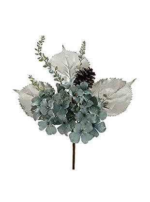 Winward Handcrafted Decorative Hydrangea Pick, Teal
