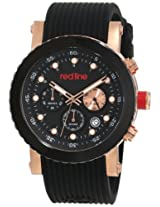 red line Men's RL-18102-RG-01 Compressor Chronograph Black Dial Watch