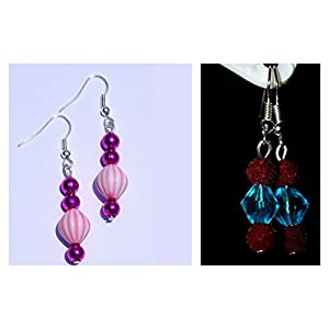 Varishta Jewells Plastic And Velvet Ball Combo (2 Pairs) Earring