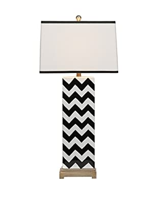 Chandler Black Chevron Lamp