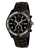 OMAX Chronograph Black Dial Men's Watch - CS167