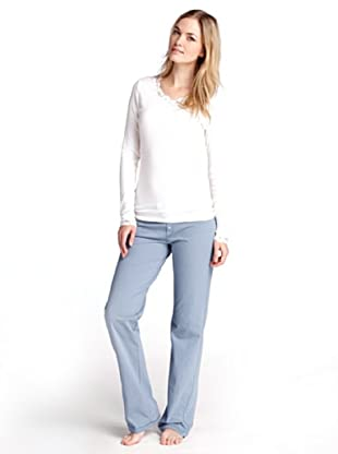 ESPRIT Bodywear Damen Schlafanzugshose S1710/NORDIC DOTS/STR (Blau (49))
