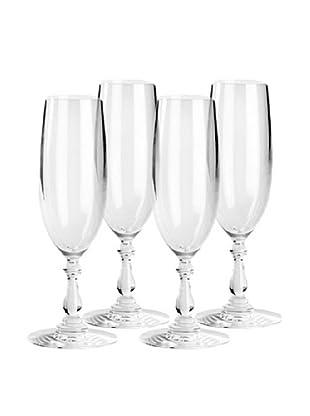 Alessi Set of 4 Dressed 8-Oz. Champagne Flutes