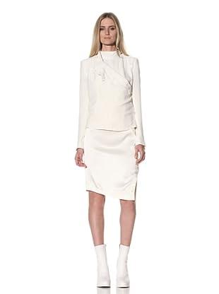 Ann Demeulemeester Women's Side Button Jacket (Off-White)