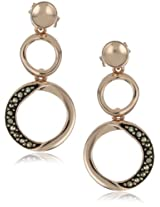 "Argento Vivo ""Lunar"" Rose Gold-Plated and Marcasite Figure 8 Earrings"