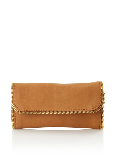 Linea Pelle Women's Dylan All-Around Zip Wallet (Scotch)
