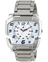 Fastrack Speed Racer Analog White Dial Men's Watch - NE3079SM01