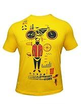 Peter England Yellow T-Shirt