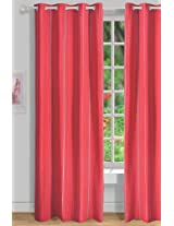 House This 100% Cotton 1 Door Curtain Mexican Jacquard Red